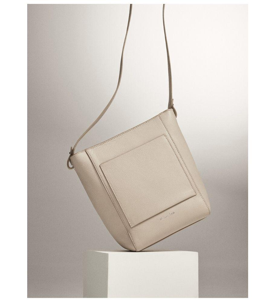 Bolso bucket piel 59,95€