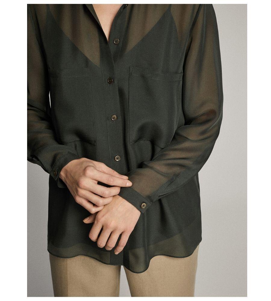 Camisa bolsillos 100% seda 39,95 €