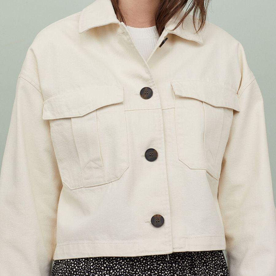 Chaqueta camisera de algodón H&M