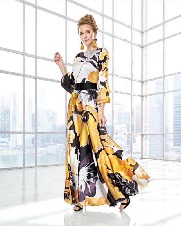 Vestido maxi con estampado floral