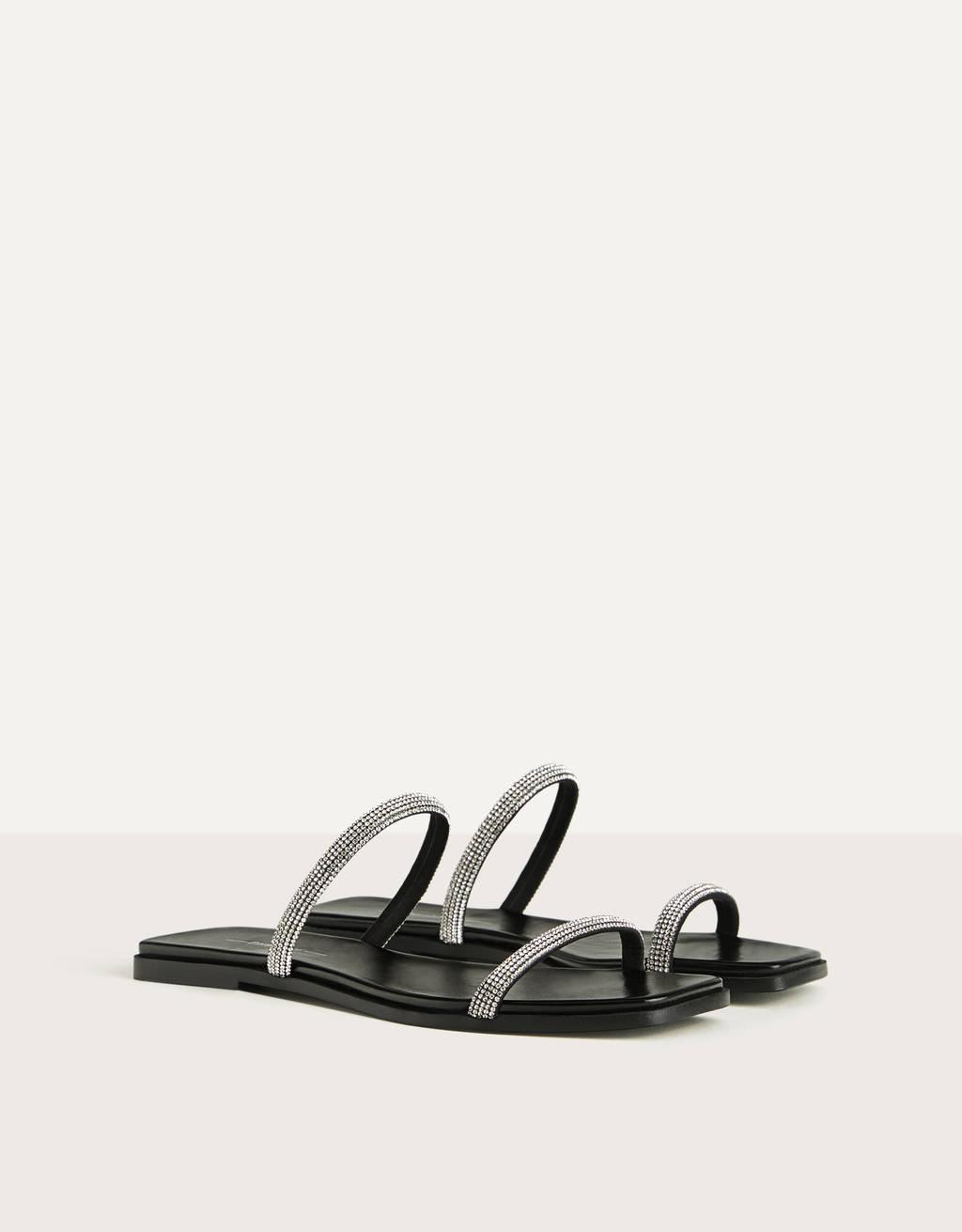 Sandalia plana tiras joya de Berhka