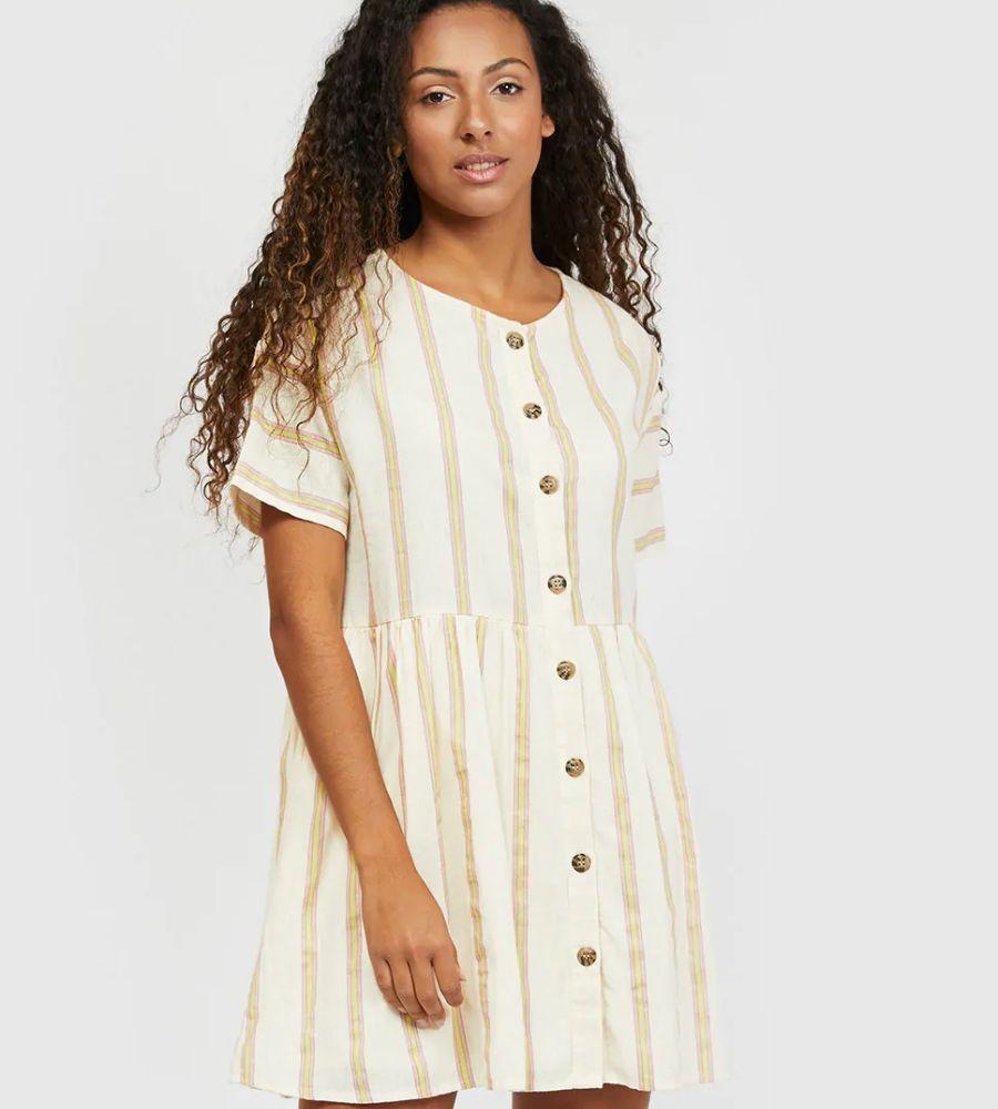 Vestido corto con líneas verticales Noisy May 44.99€