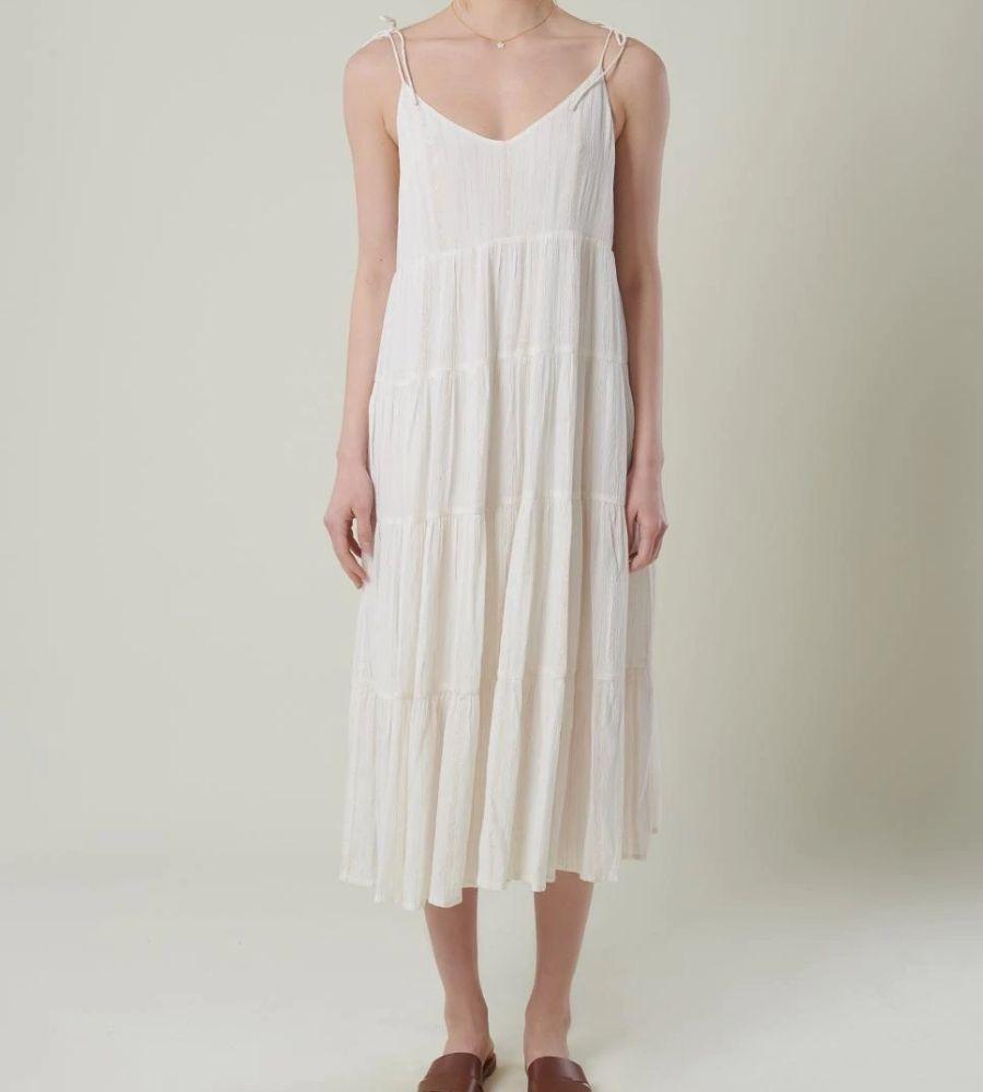 Vestido de tirantes en color blanco y largo Brownie 65.90€