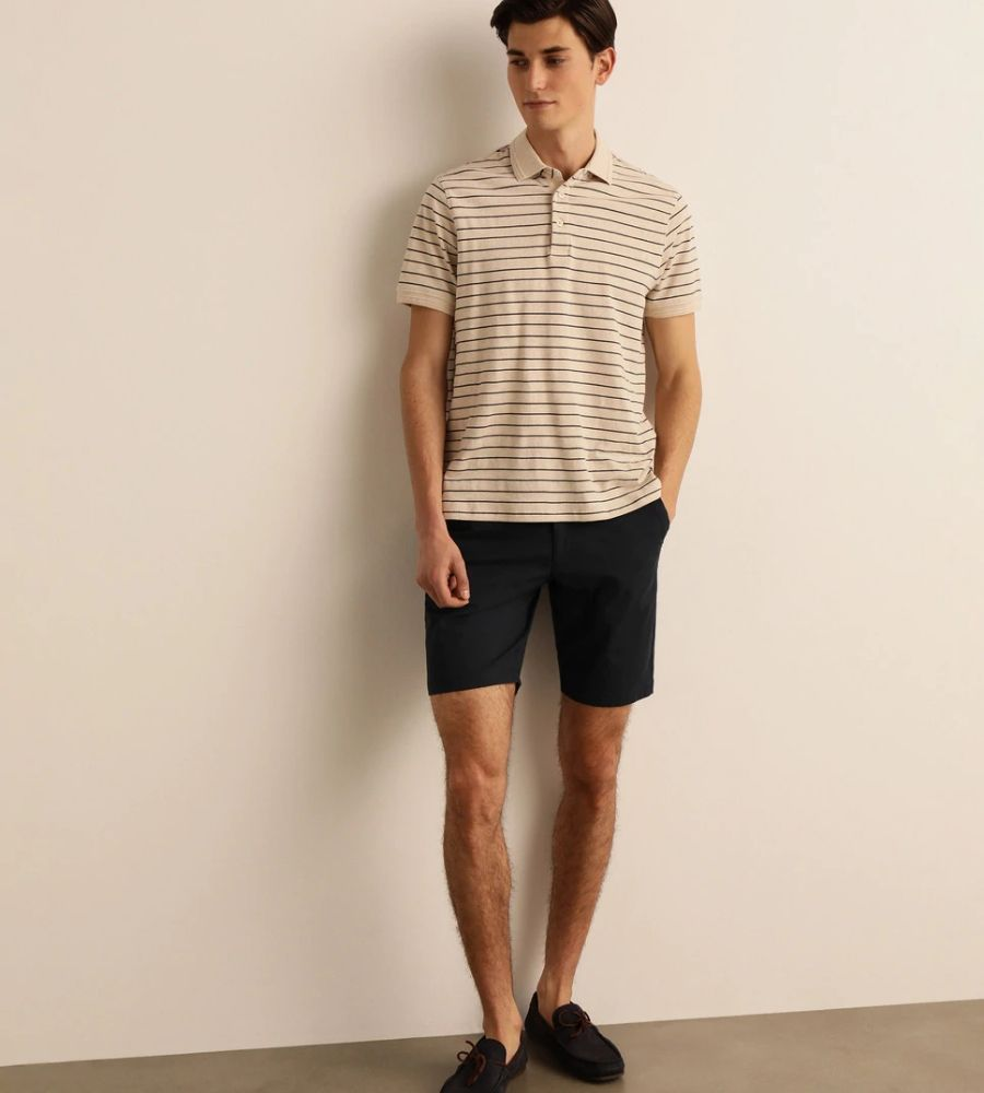 Pantalón corto de hombre liso azul Dustin 29.95€