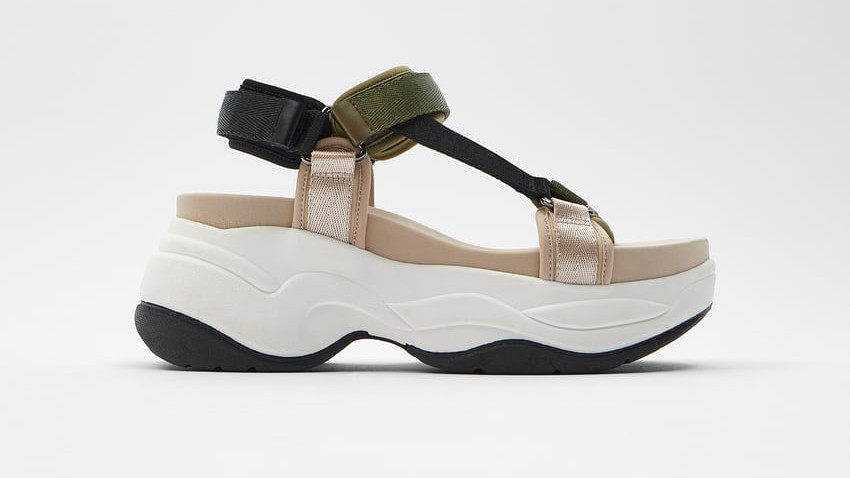 Sandalia plana Zara tipo deportiva