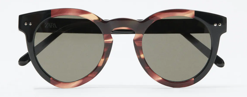 Gafas de sol redondas de acetato