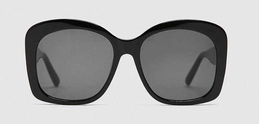Gafas negras cuadradas de acetato
