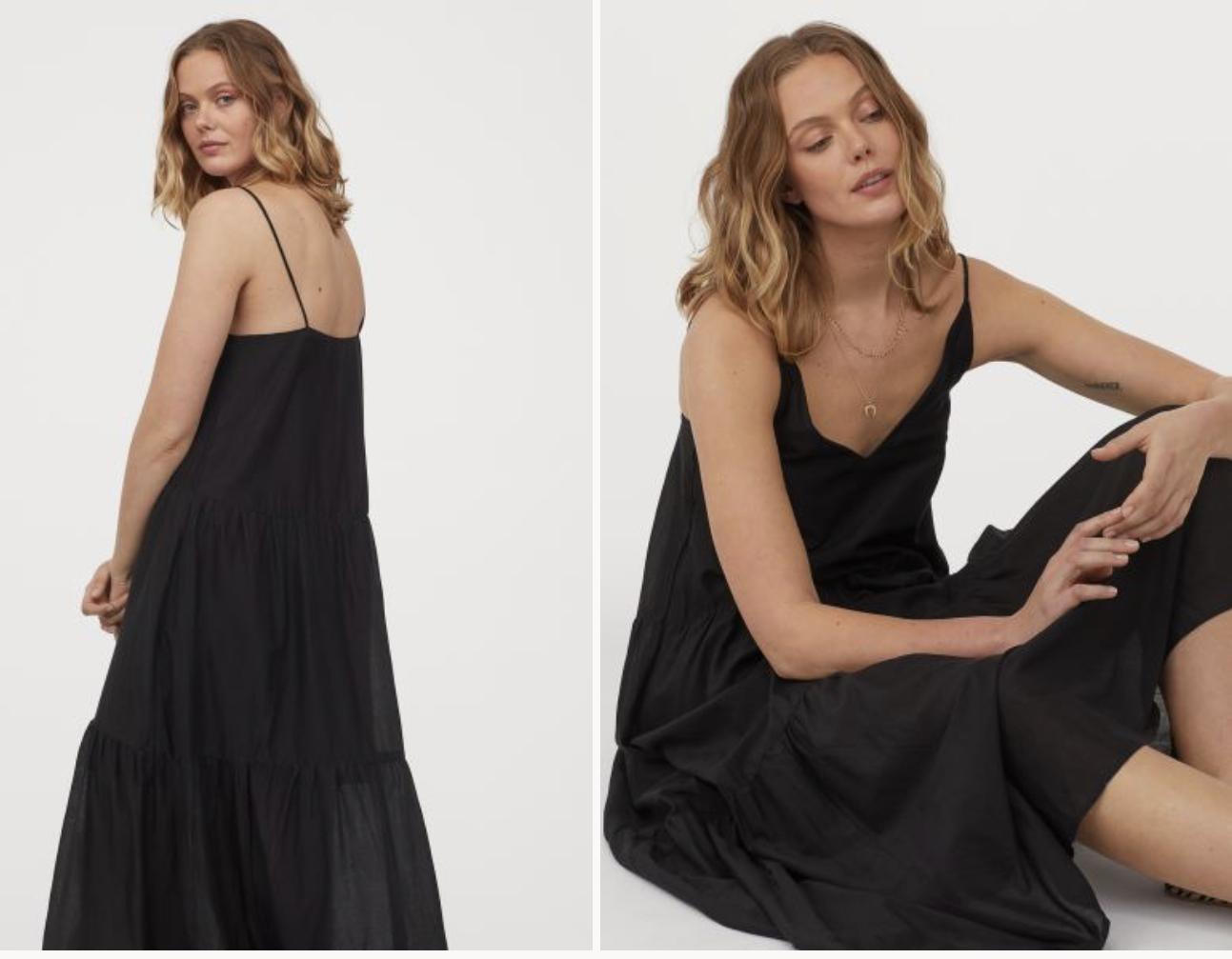 Vestido negro H&M