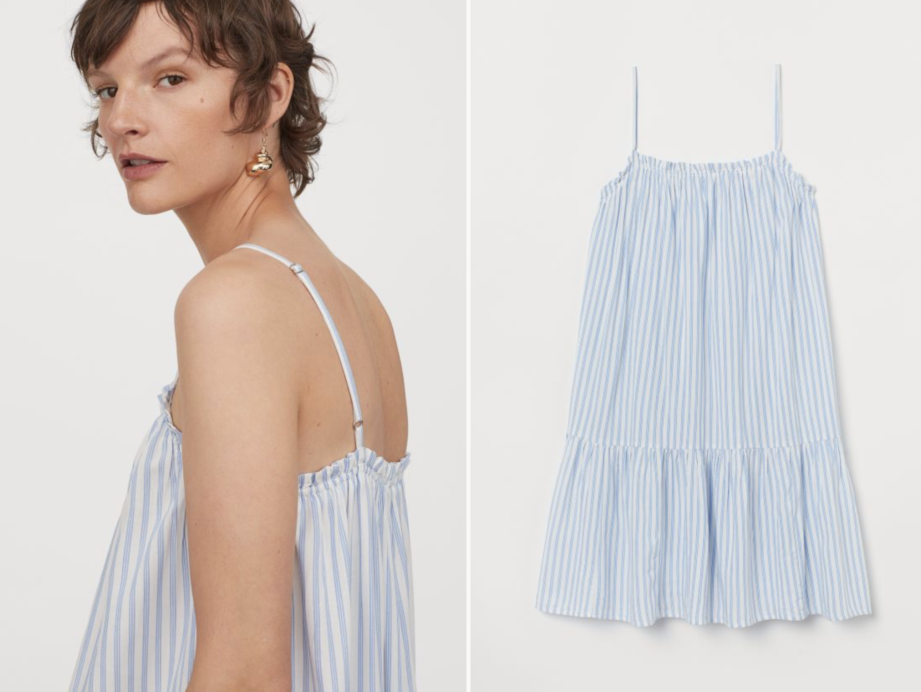 Vestido de rayas H&M