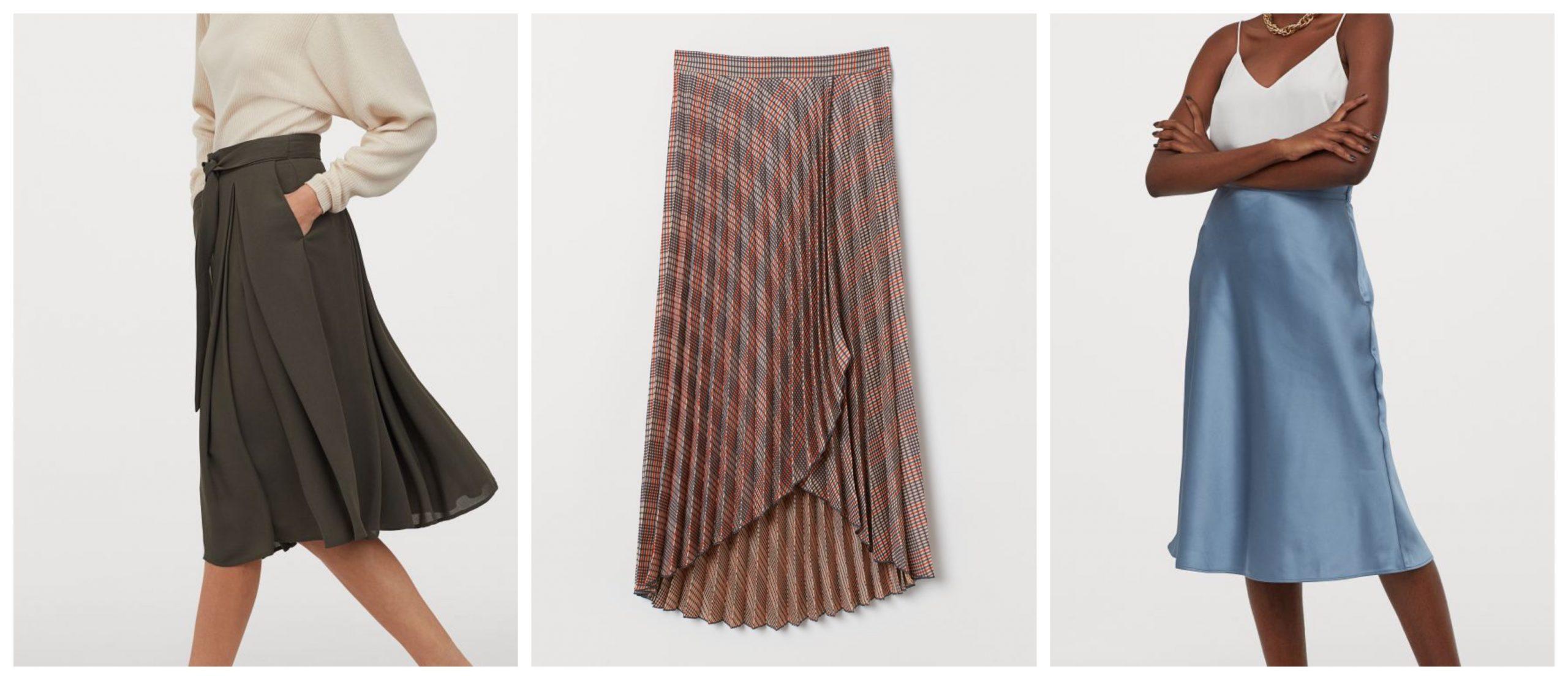 3 Faldas de H&M para lucir este verano con corte midi.