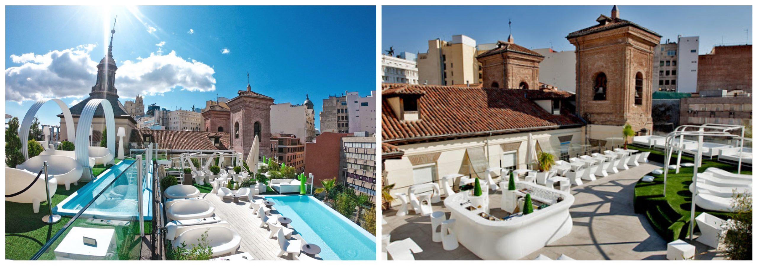 Azotea de Gymage Lounge Bar Madrid.
