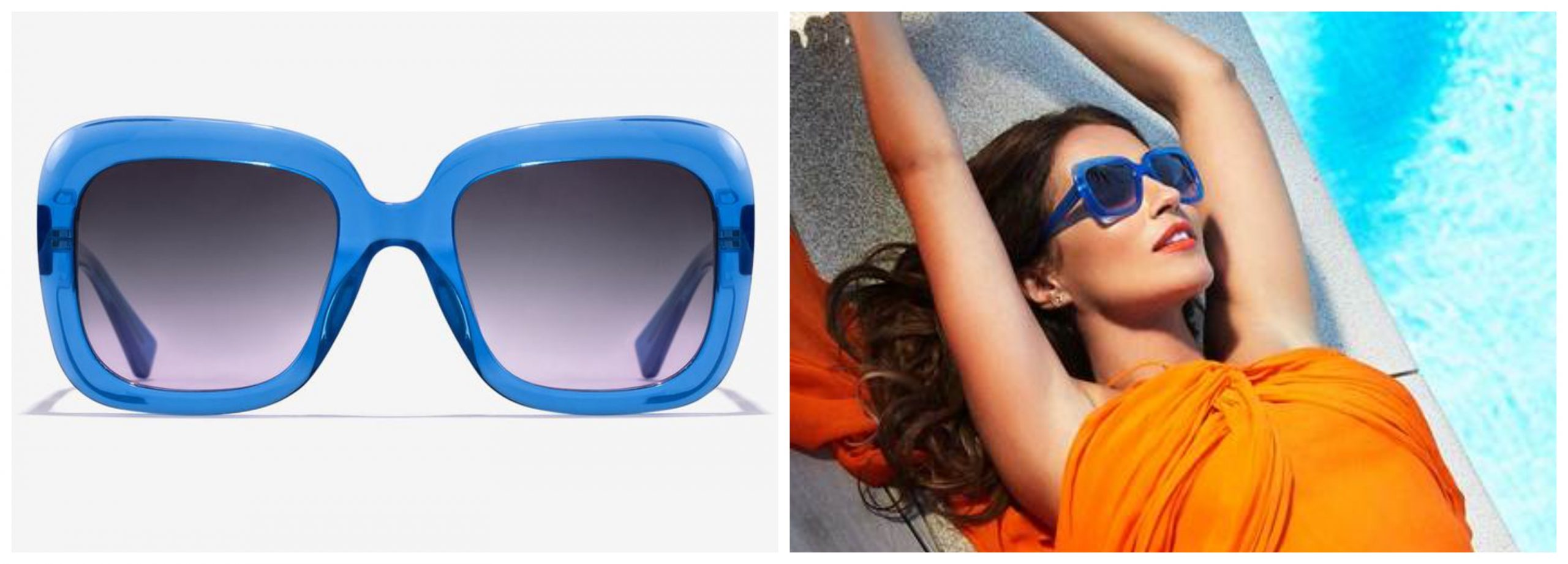Gafas xxl azules de Hawkers.