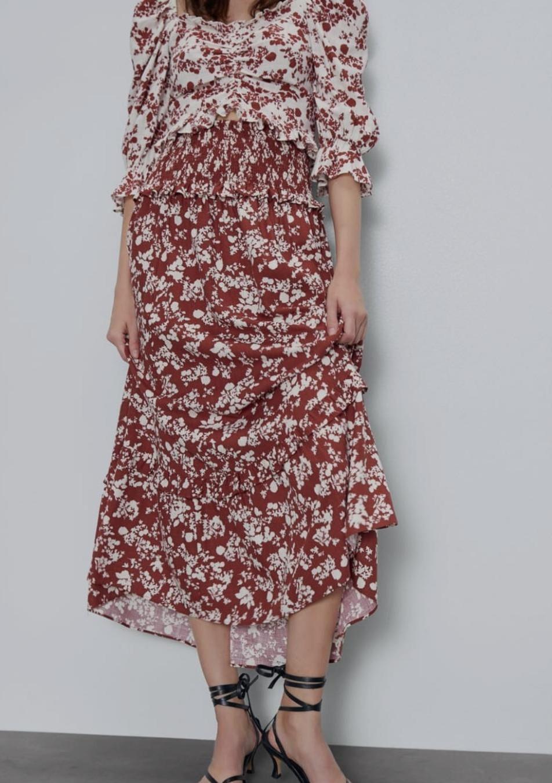 Falda maxi estampado floral