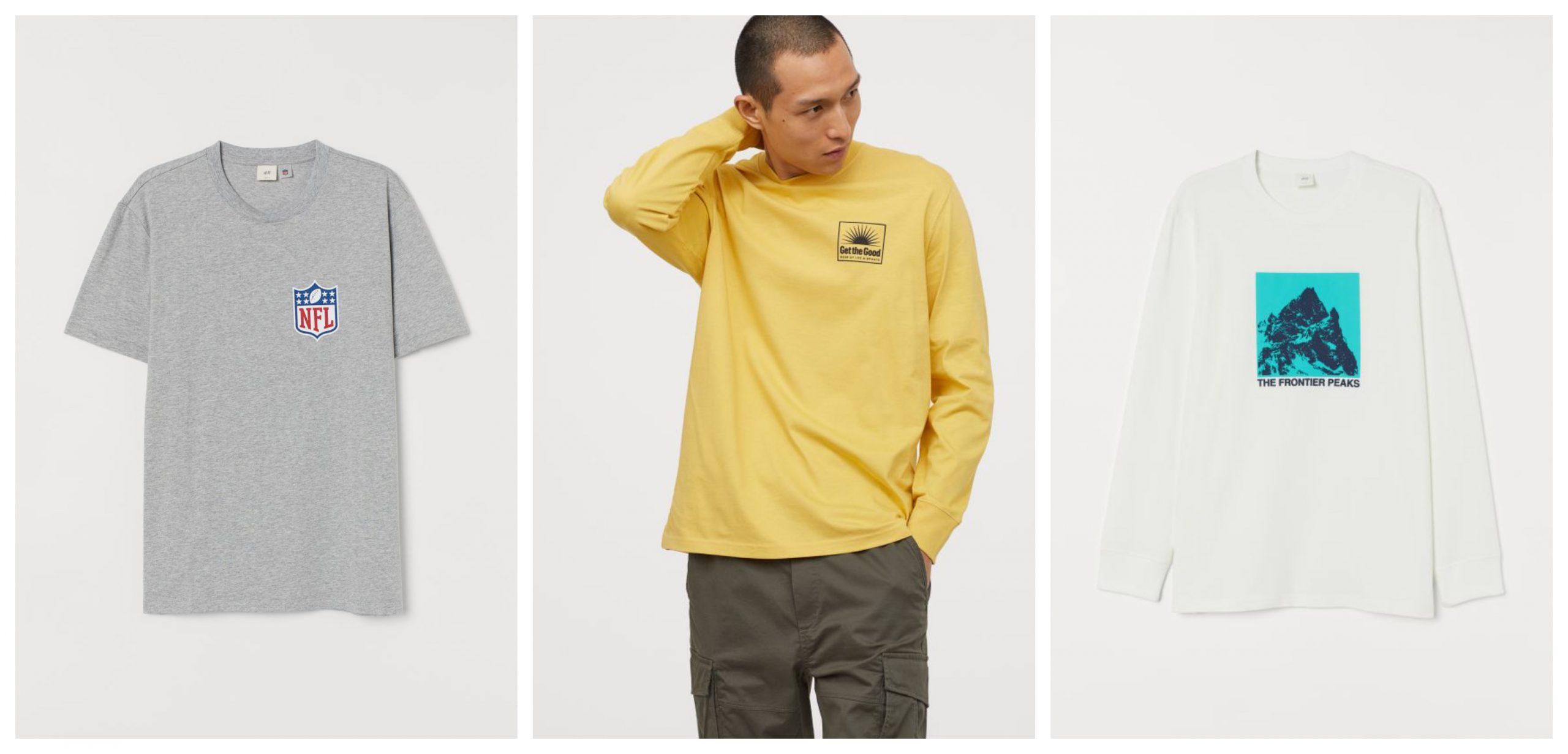 3 camisetas con motivos estampados de H&M rebajadas.