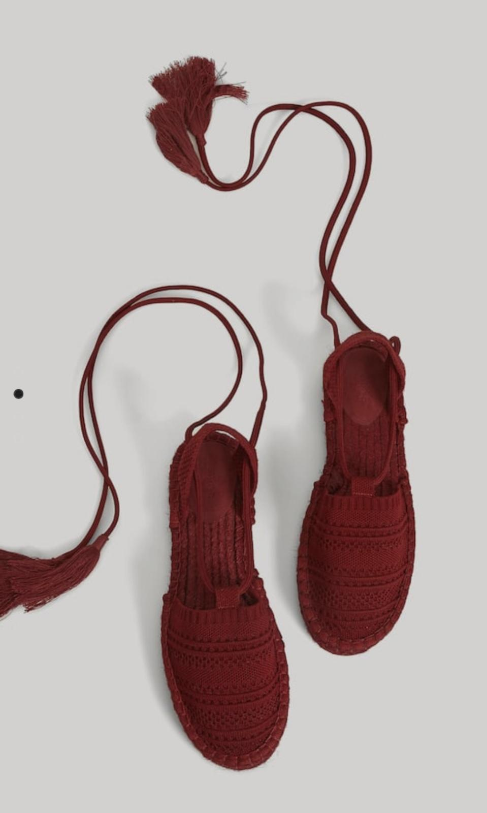 Esparteñas planas granates