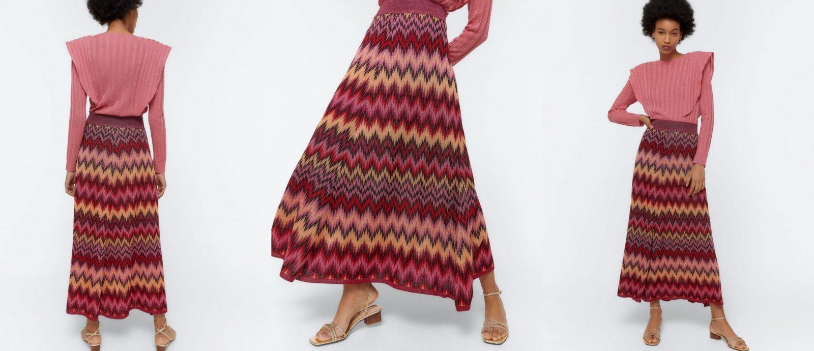 La falda de punto Jacquard que completará tus looks del verano.