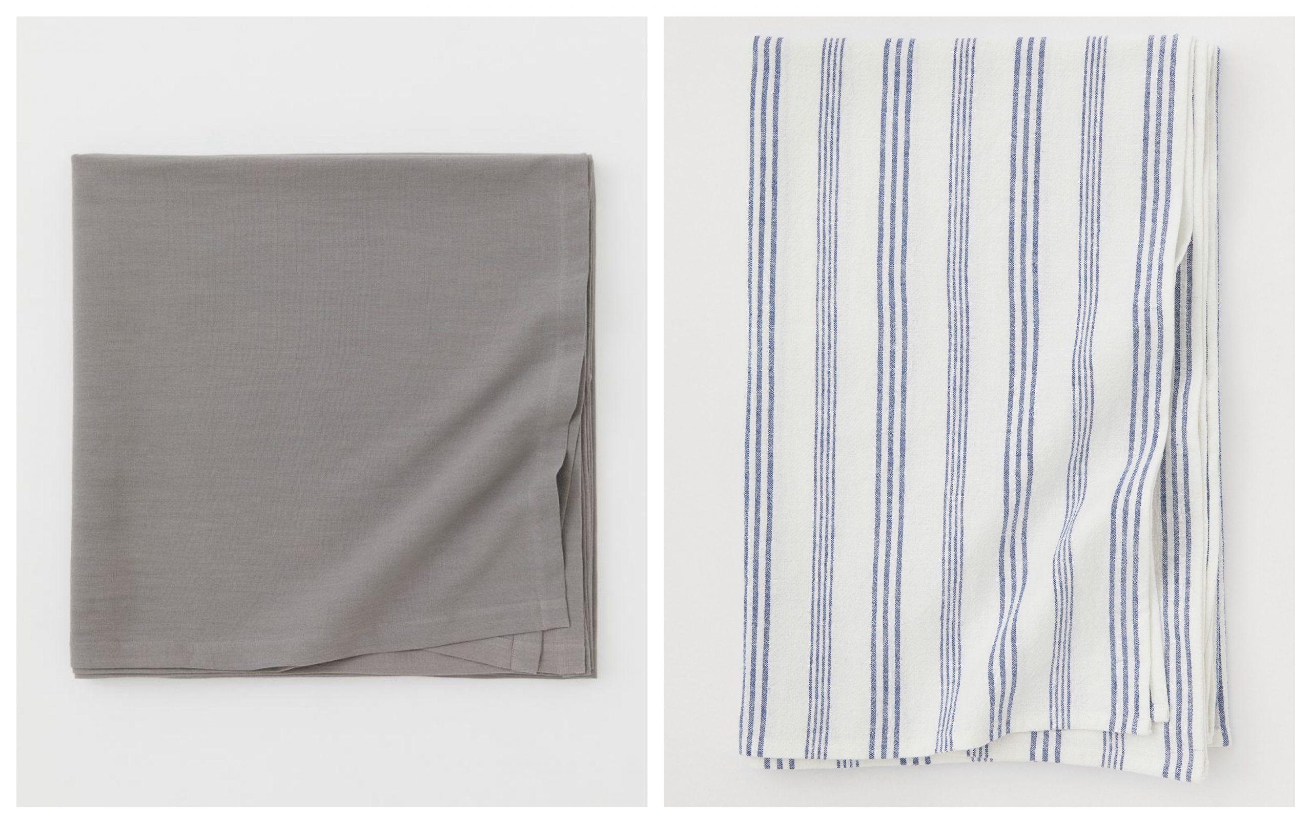 2 modelos diferentes e manteles de lino para redorar tu mesa de H&M rebajados.