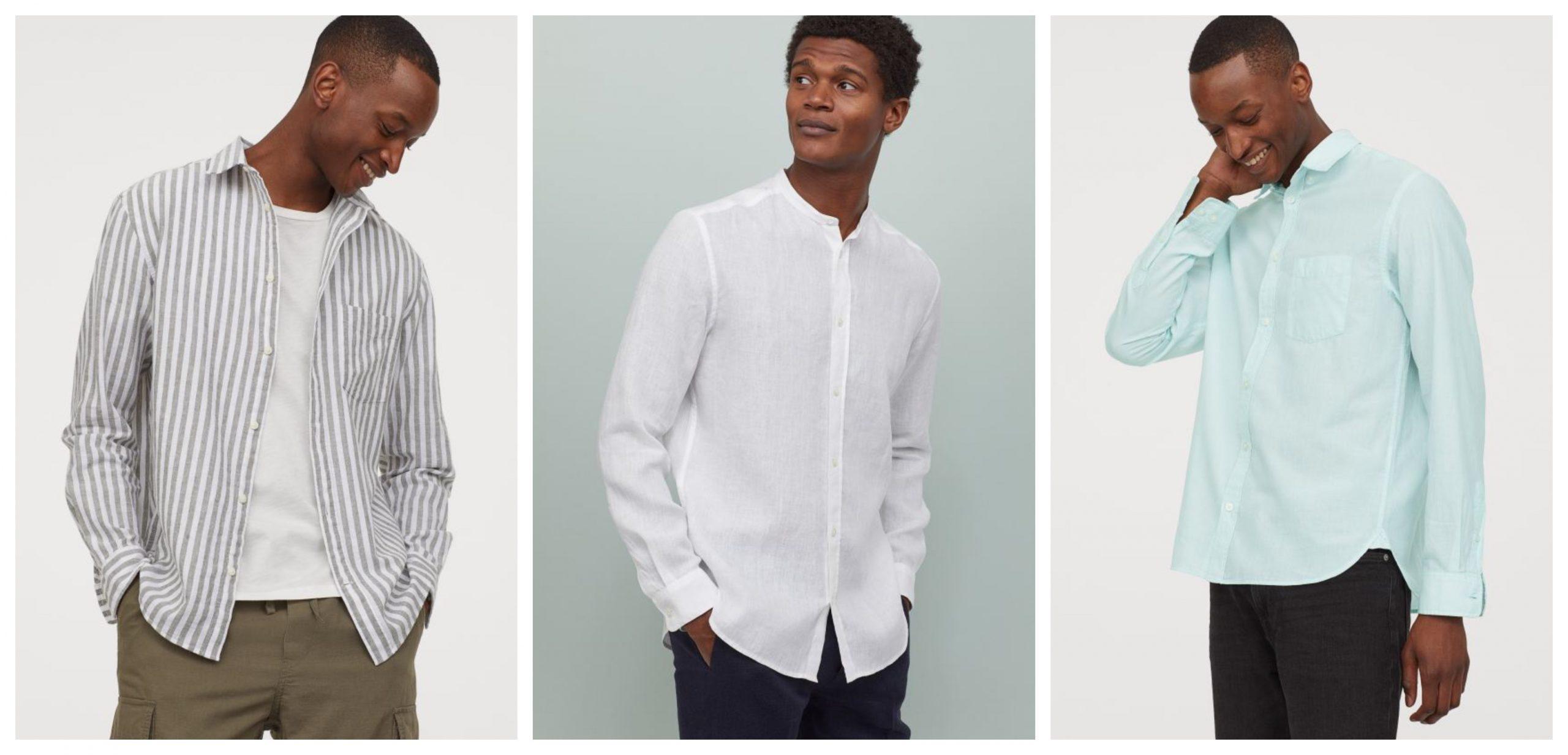 3 Camisas de hombre de H&M de rebajas para este verano.