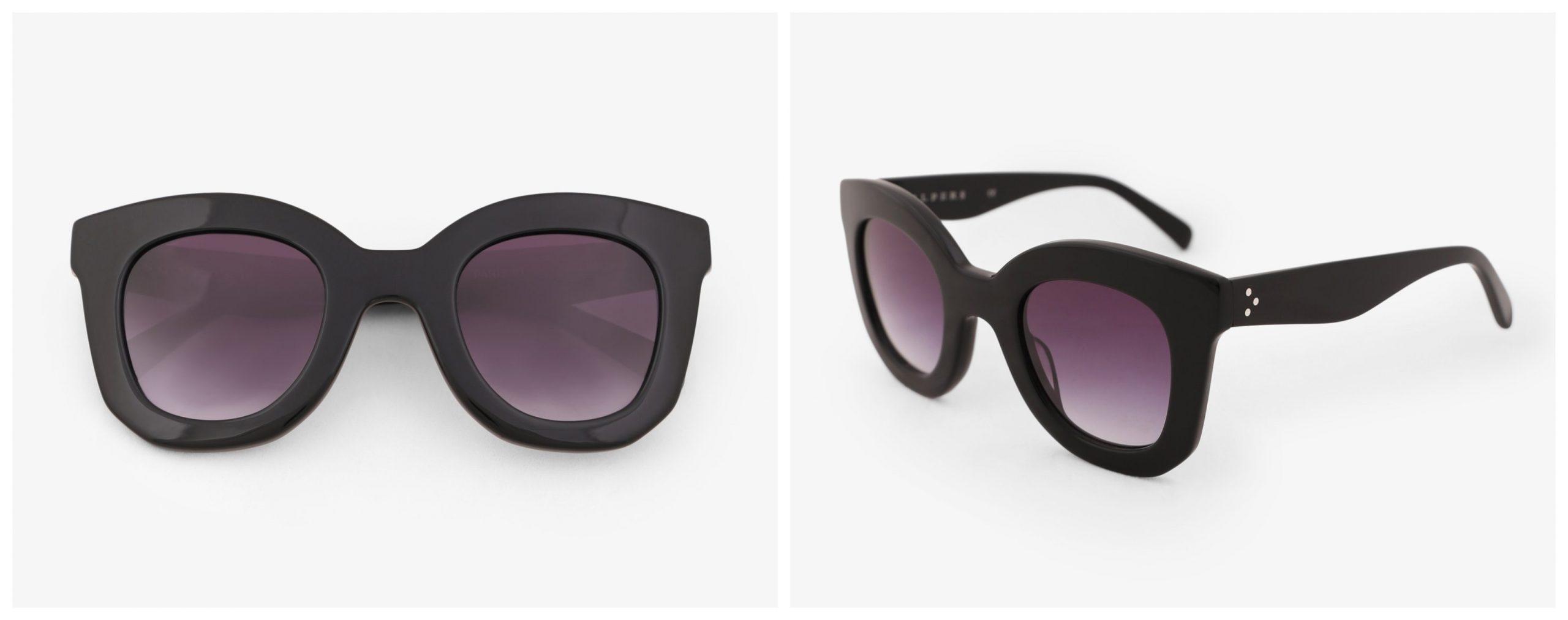 Gafas de montura grande de scalpers, color negro