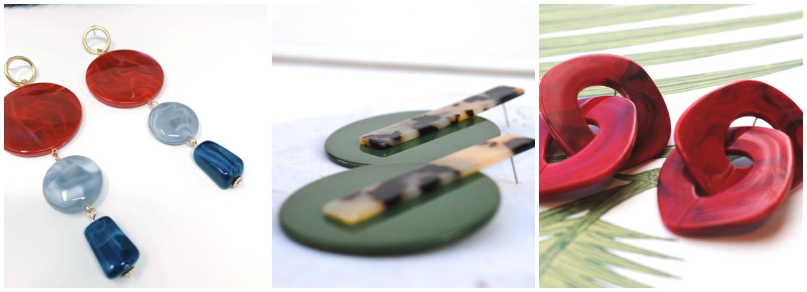 Pendientes grandes de colores para lucir en verano de la firma Dosprimeras