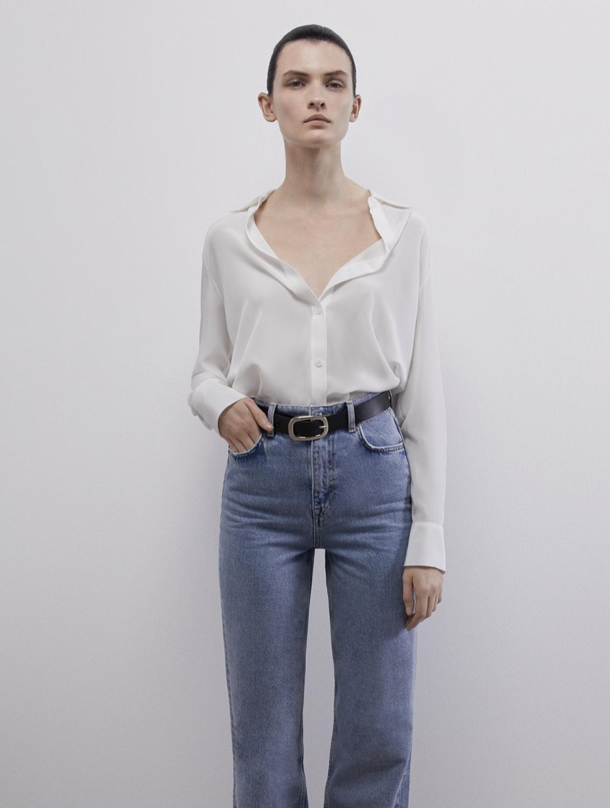 Blusa de seda de Zara