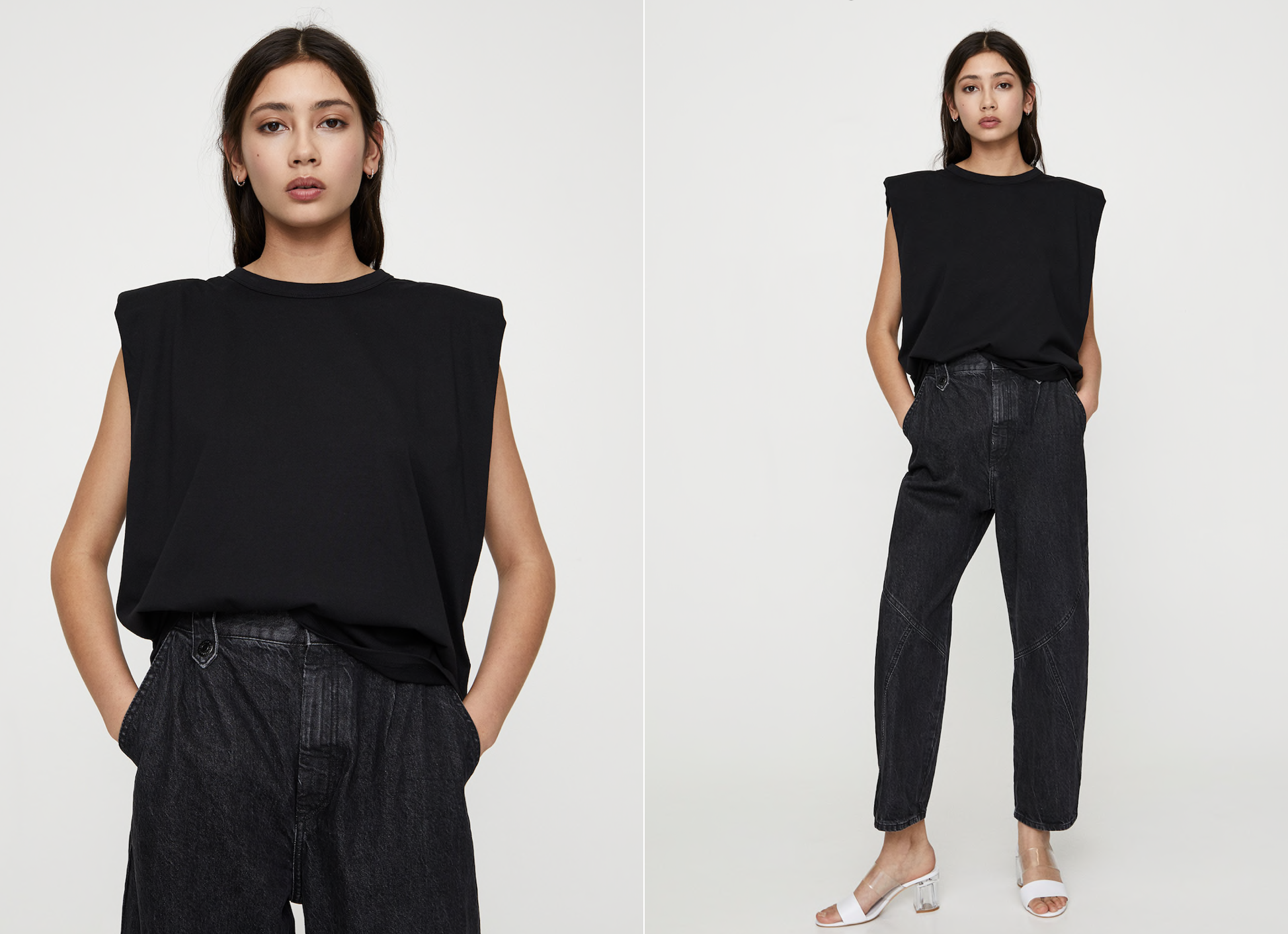 Camiseta de algodón negra de Pull&Bear