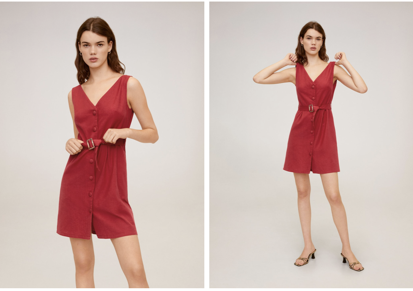 Vestido rojo de Mango