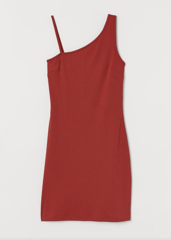 Vestido entallado rojo de H&M