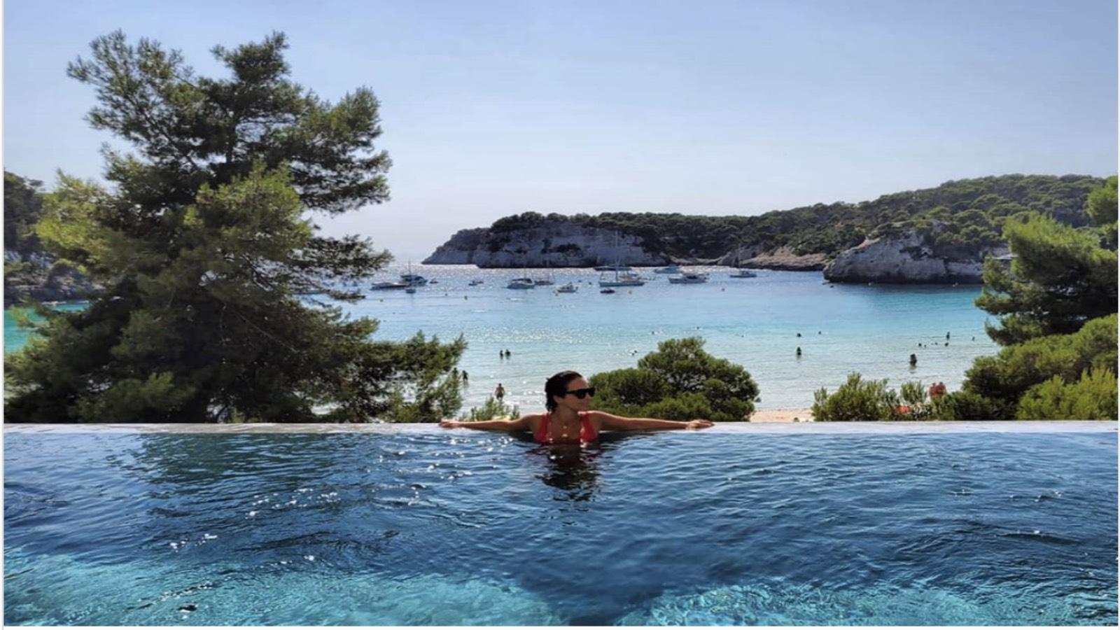 Paula Echevarría en sus vacaciones de Menorca