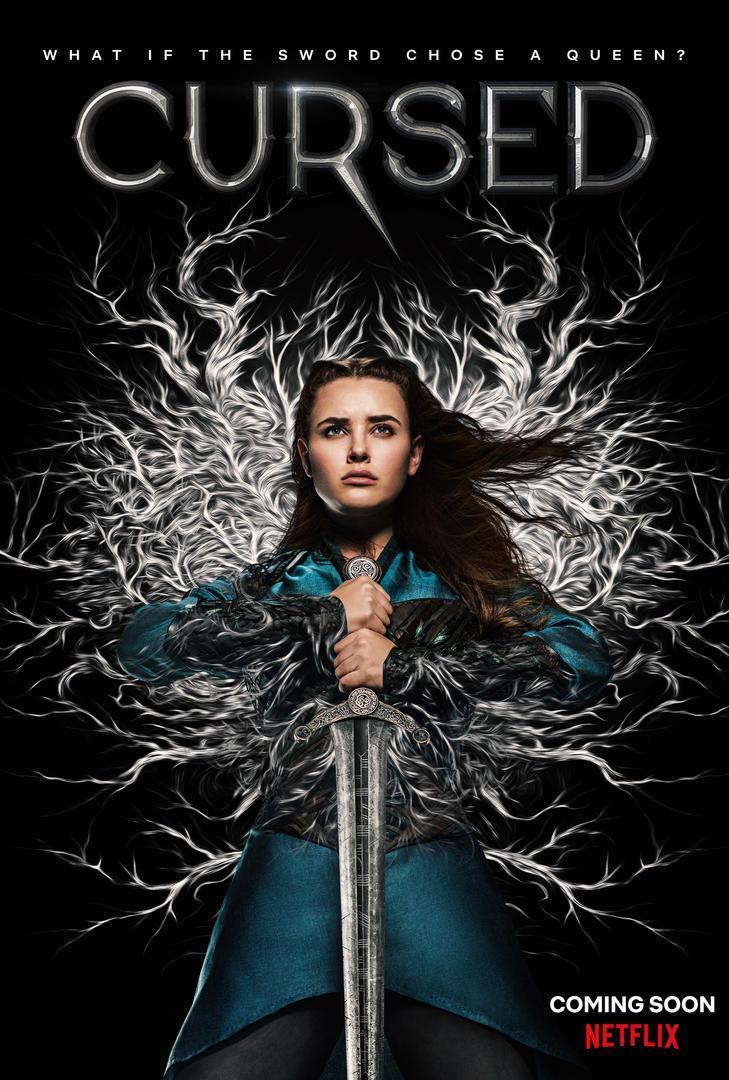 Cartel oficial de la serie de Netflix Maldita (cursed)