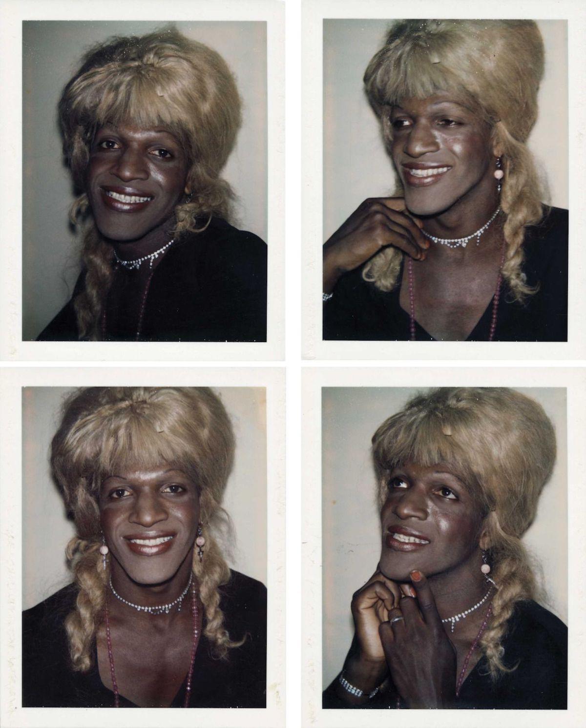 Marsha P. Johnson fotografiada por Andy Warhol
