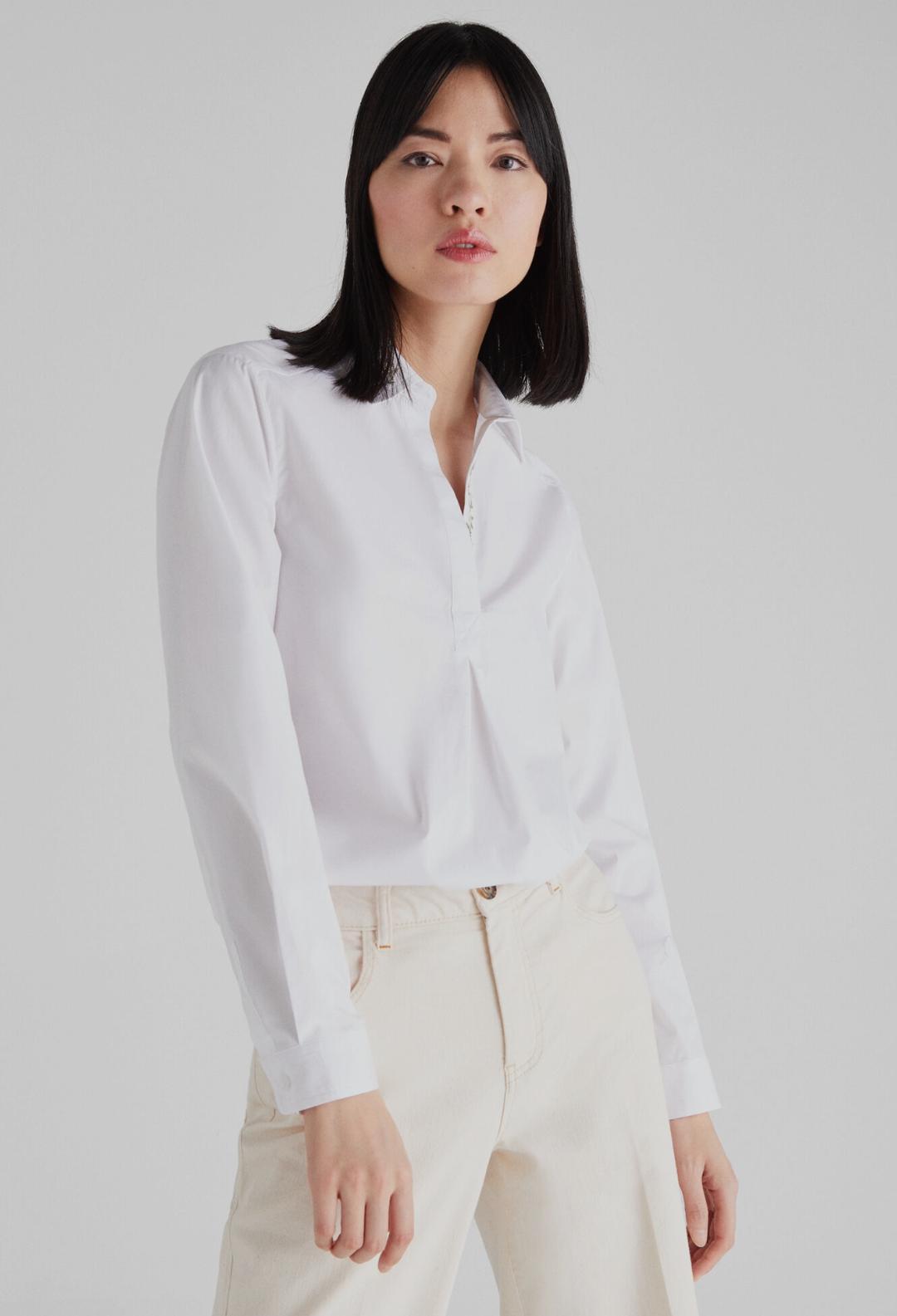 Camisa popelín bordados Eco-friendly
