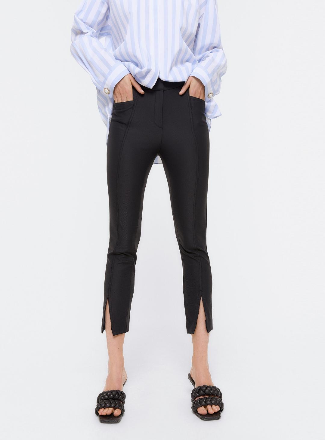 pantalón pitillo con aberturas