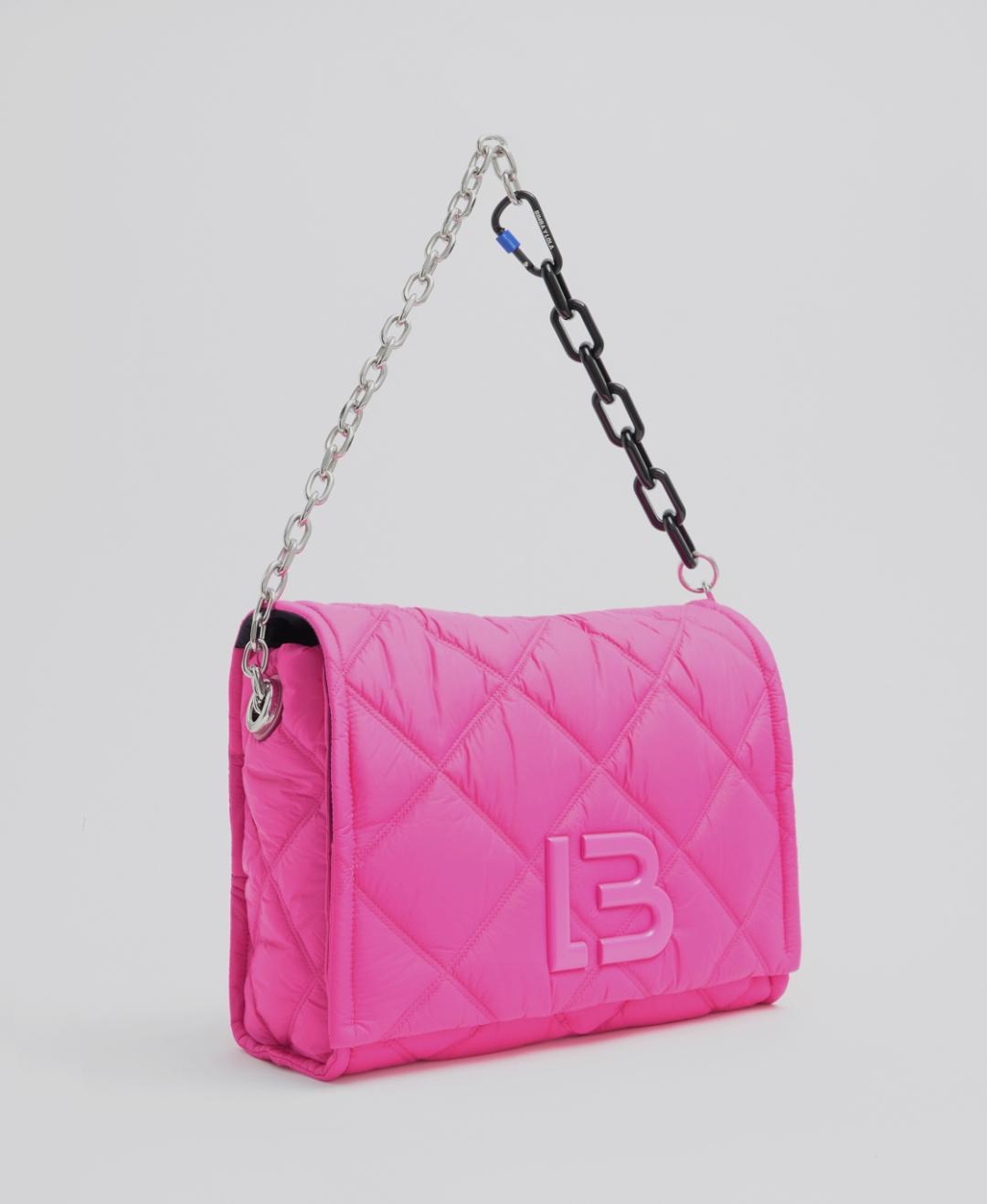 Bolso solapa nylon acolchado rosa