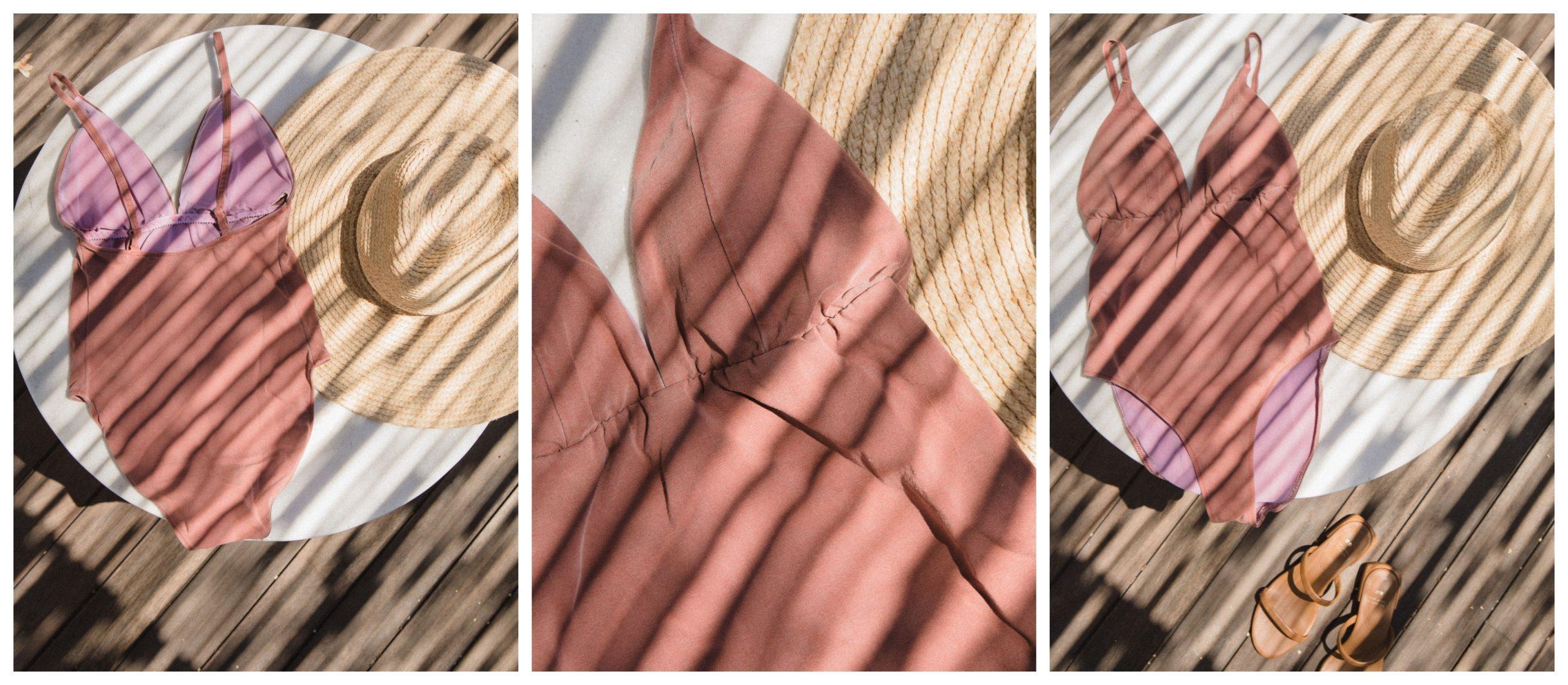 Bañador color rosa textura de la tienda eseoese