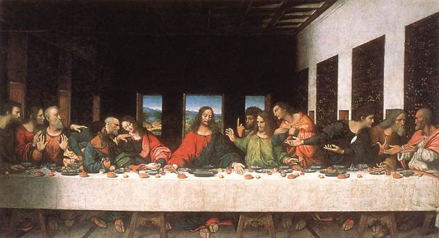 La última cena de Leonardo da Vinci