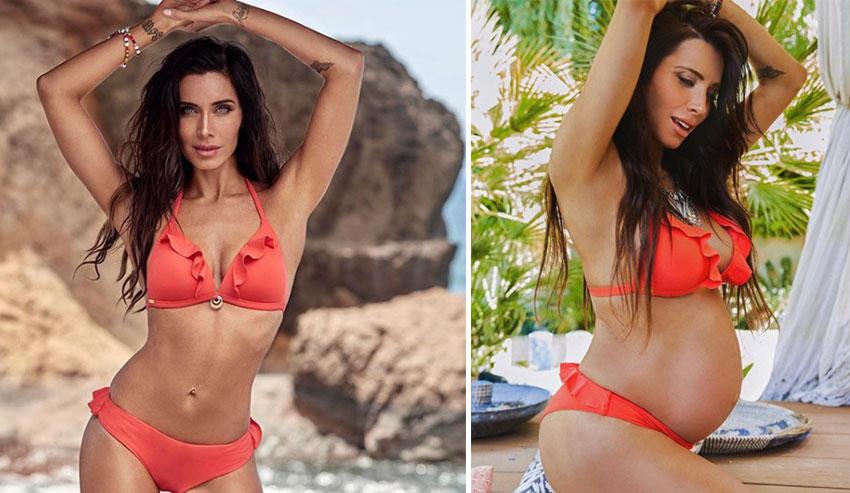 Espectacular posado de Pilar Rubio en bikini en la recta final de su embarazo