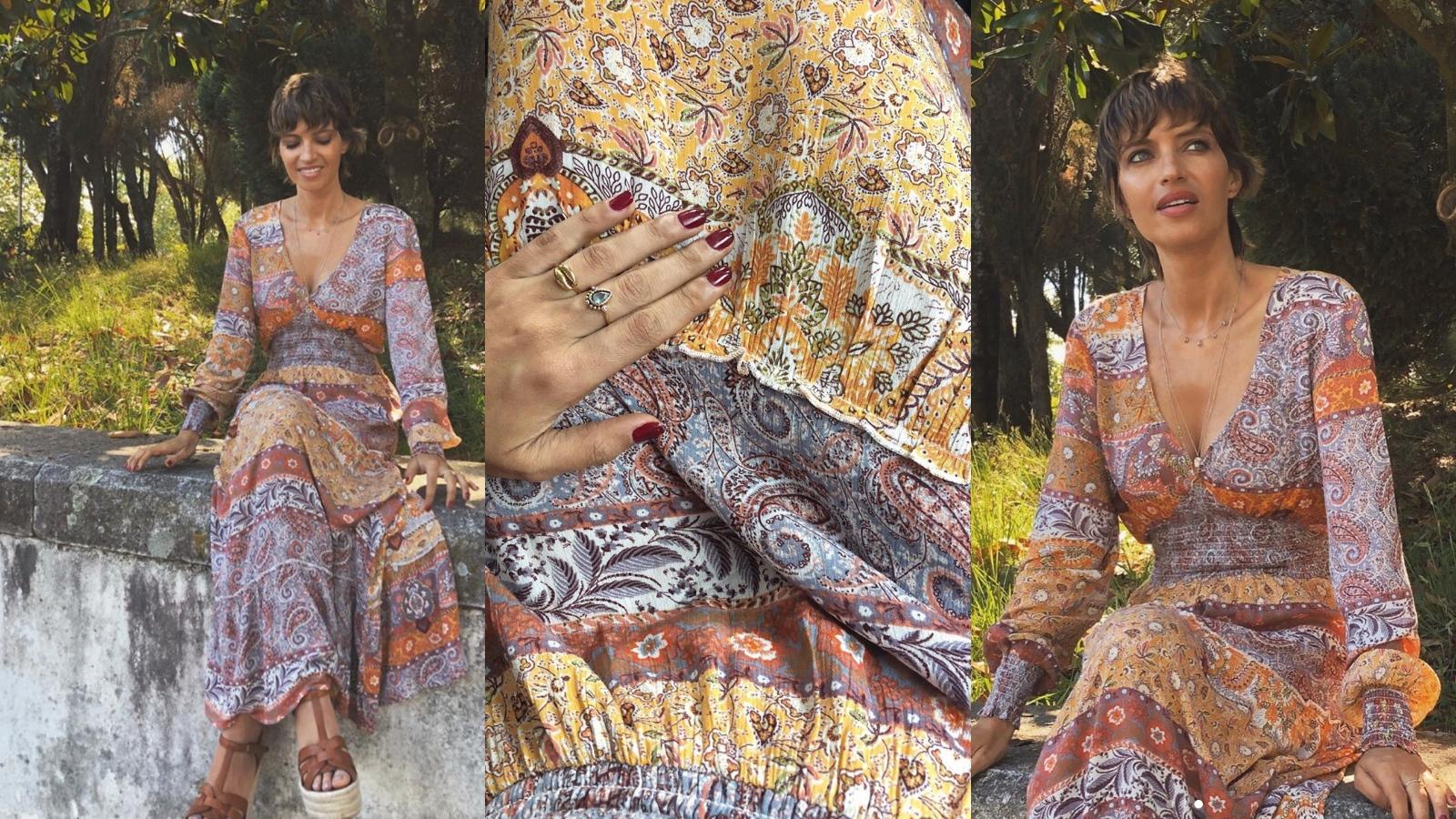Te contamos donde encontrar el vestido de Sara Carbonero que ha triunfado y que está agotado en su web.