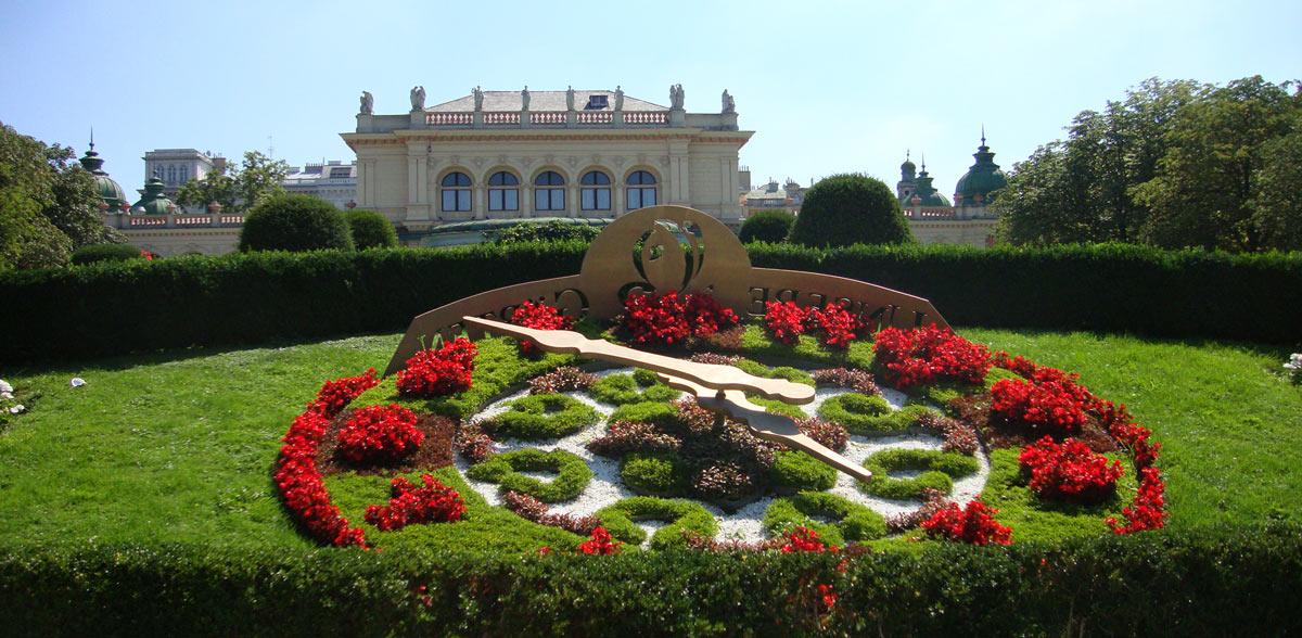 Reloj en el Stadtpark