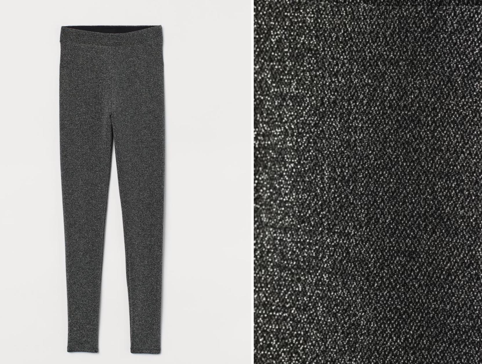 Pantalones metalizados de H&M