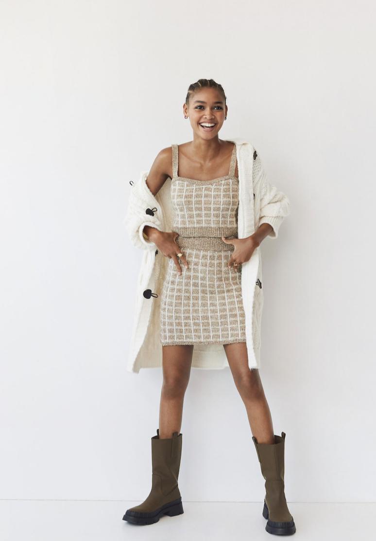 Minifalda tweed cuadros de Mango 29,99 €