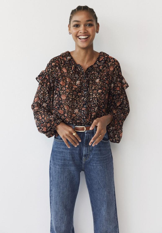 Blusa estampado floral de Mango 29,99 €