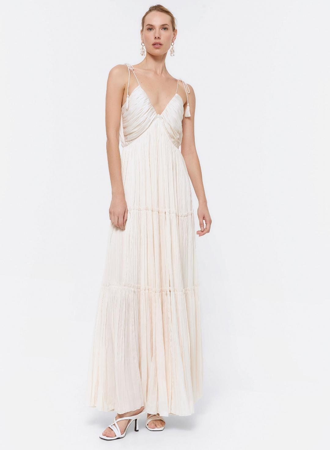 maxi vestido satinado