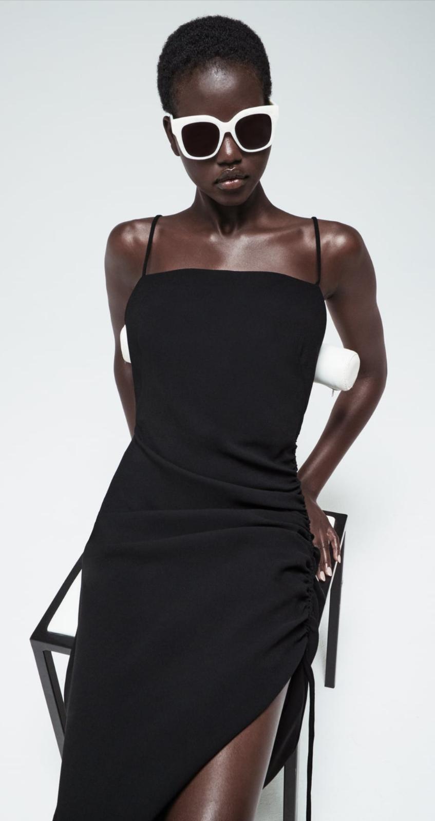 Vestido lencero satinado Zara