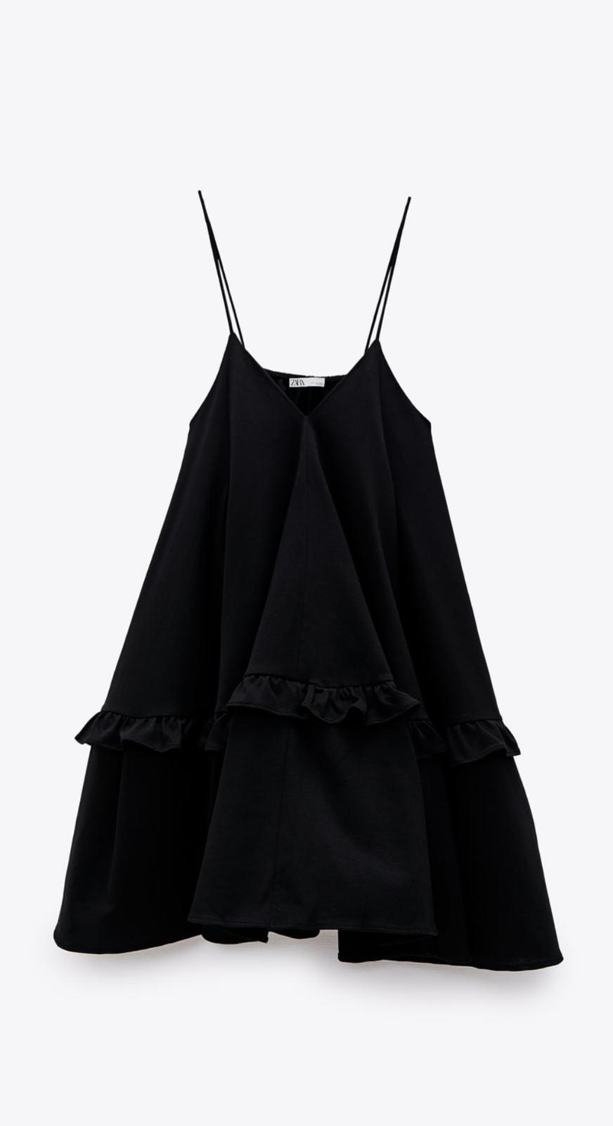 vestido mini vaporoso Zara
