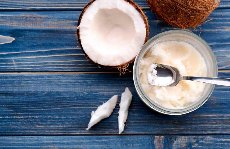Aceite de coco como componente nutritivo.