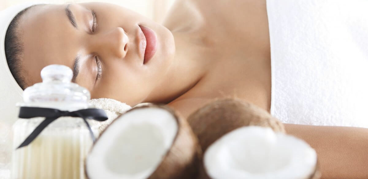 Aceite de coco beneficioso para la piel.