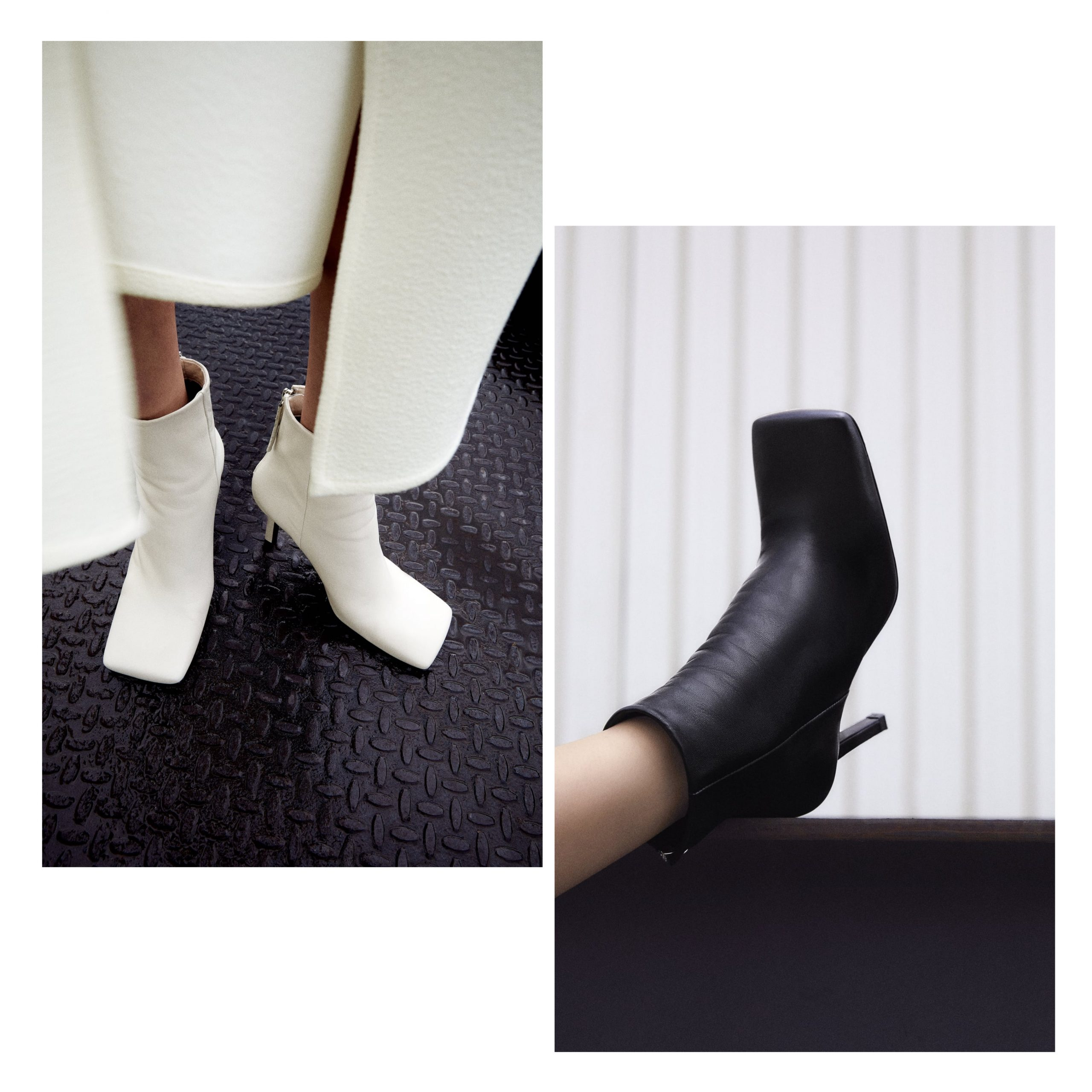 botín punta cuadrada Zara