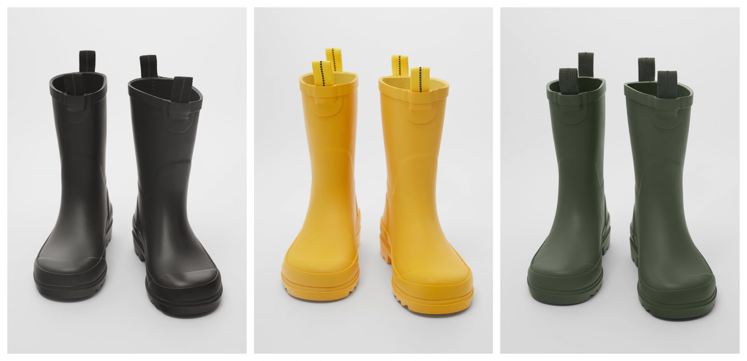 Botas de agua de la firma Zara Kids.