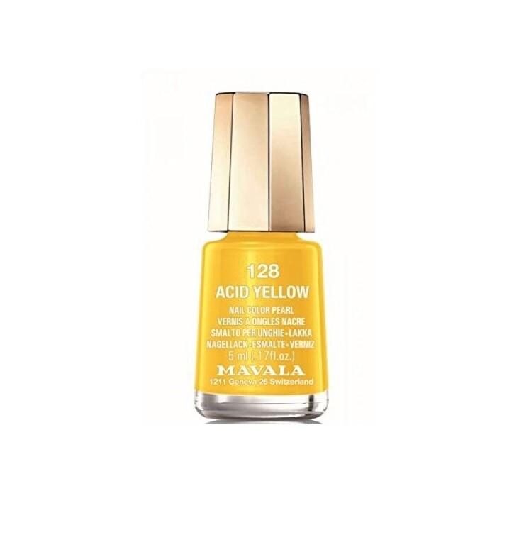Esmalte de uñas amarillo Acid Yellow de Mavala.